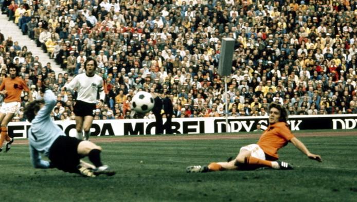Rep tijdens de Wk-finale van '74.