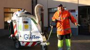 Arbeiders Rodea houden straten Sint-Genesius-Rode netjes met nieuwe machine
