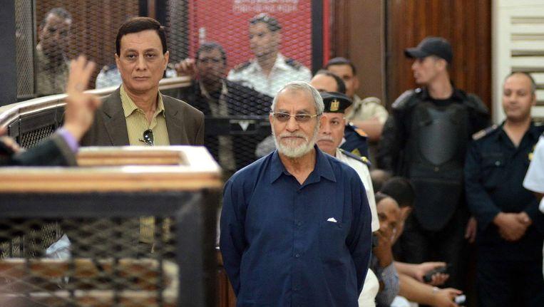 Mohamed Badie in mei in de rechtbank. Beeld afp