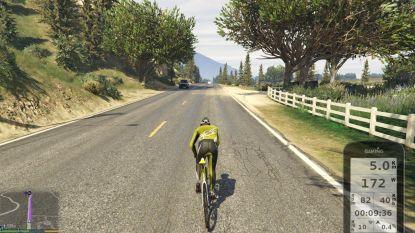Gamers kunnen op echte fiets met fietstrainer rondrijden in GTA V