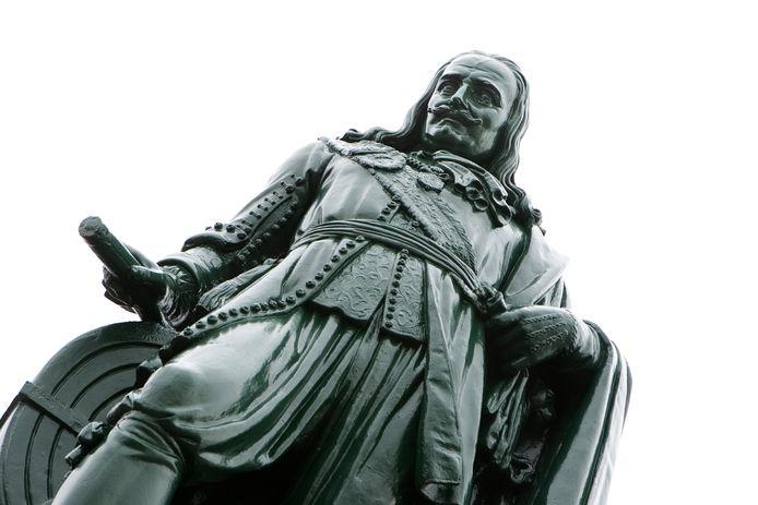 Het standbeeld van Michiel de Ruyter in Vlissingen.