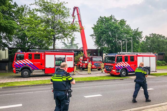 Rookontwikkeling bij brand in sauna Prinsejagt in Eindhoven.