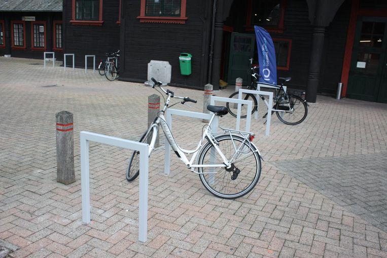 Enkele 'fietsnietjes' aan de Koninklijke Stallingen.