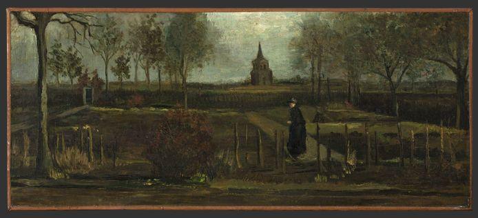 Het doek 'Lentetuin, de pastorietuin te Nuenen in het voorjaar' van Vincent van Gogh dat in de nacht van zondag op maandag werd gestolen uit het Singer Museum in Laren.