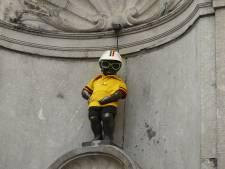 Manneken-Pis et l'Atomium se parent de jaune