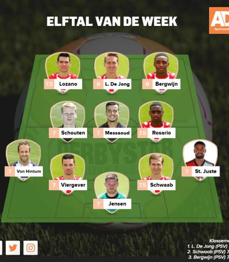 PSV verpletterend aanwezig in Elftal van de Week