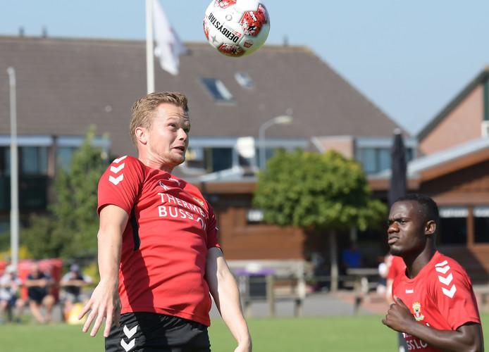 Pieter Langedijk tijdens de training met GA Eagles in Terwolde.