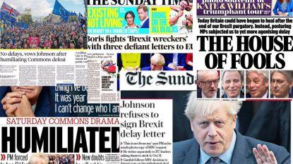"""""""Vernederd"""" maar """"geen uitstel"""": dit schrijven Britse kranten over de laatste nederlaag van Boris Johnson"""