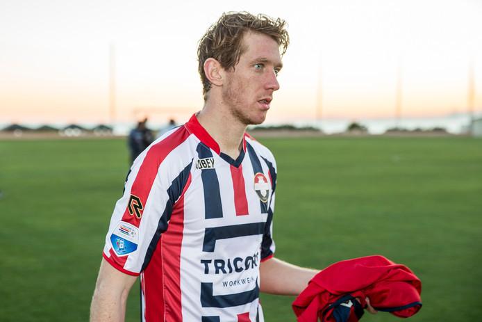 Robert Braber in het shirt van Willem II