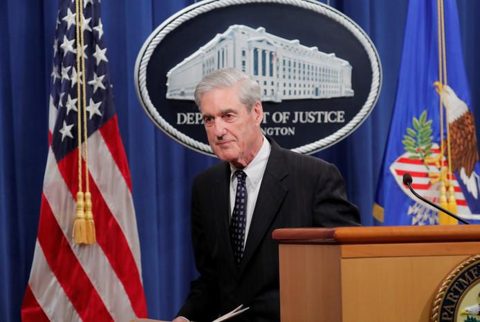 Robert Mueller nadat hij een verklaring over zijn rapport aflegde tegenover de pers.