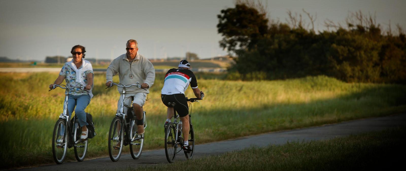 Een favoriete bezigheid van veel gepensioneerden: fietsen.