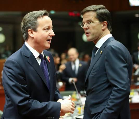 David Cameron et le Premier ministre néerlandais Mark Rutte