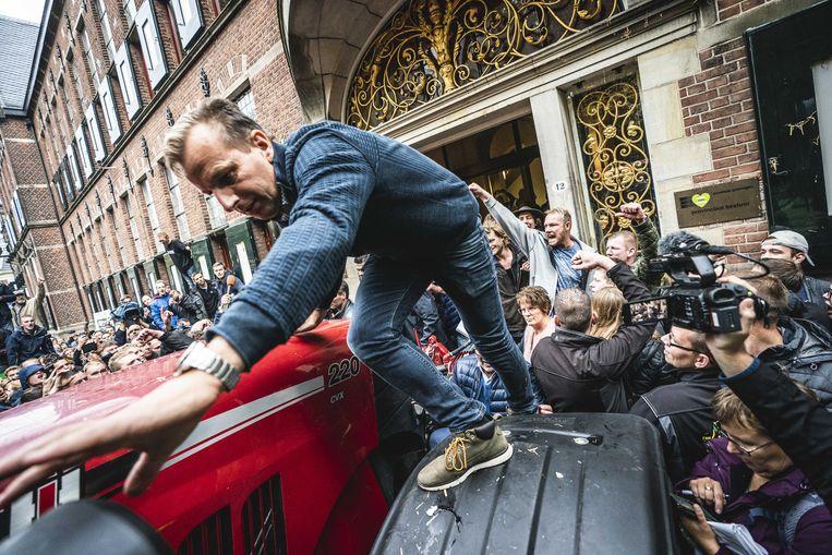 Het boerenprotest in Groningen liep in oktober stevig uit de hand. Beeld ANP