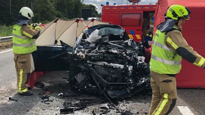 VIDEO. Auto rijdt in op vrachtwagen: bestuurder overleden, E313 in Ranst uren versperd