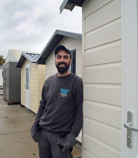 Tom Vroegop maakt tuinhuisjes: 'Zelf ondernemen en iets opbouwen geeft me een goed gevoel'