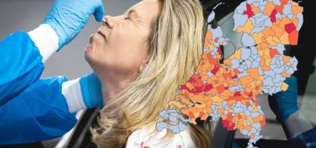 Het coronavirus in Nederland op de kaart, hier zie je het aantal besmettingen in jouw regio