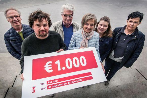 Stadsbestuur schenkt 1.000 euro voor slachtoffers cycloon Idai.