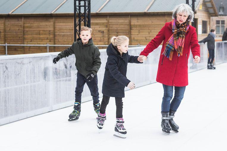 Carla Aalberts, afkomstig uit schaatsland Nederland, maakt kennis met het kunststof.