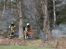 Brandweer rukt uit voor bosbrand Ommen
