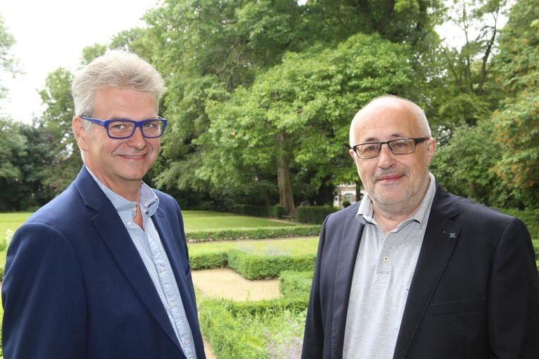Danny Puyneers (links) en Patrick Grootjans (rechts) trekken met Tienen Plus naar de kiezer.