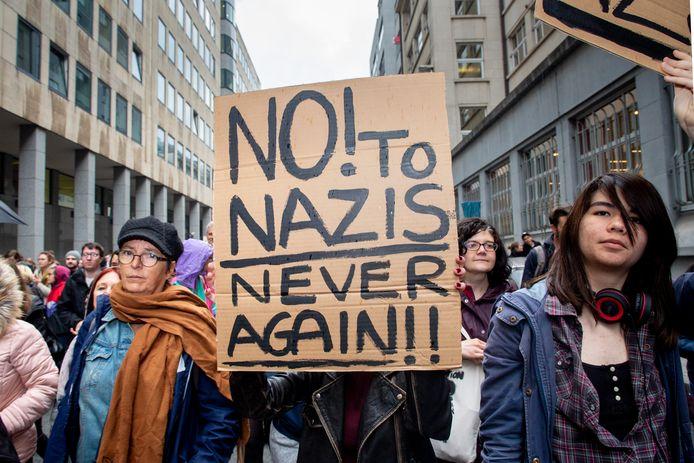 In België werd in mei nog geprotesteerd, tegen oprukkend rechts-extremisme.