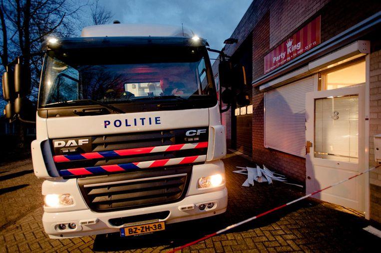 Politie-invallen in Best en Eindhoven. Beeld ANP