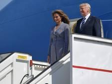Donald Trump gearriveerd in België