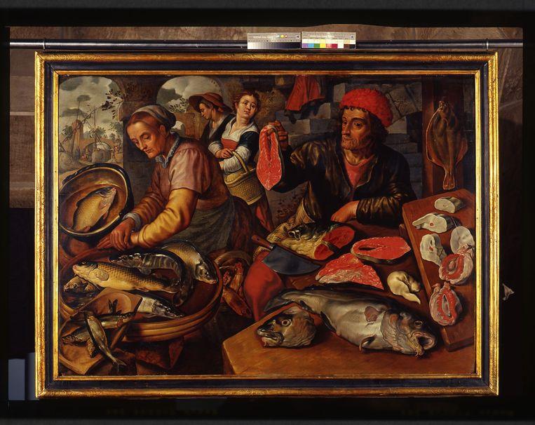Joachim Beuckelaer, 'Vismarkt', 1567. Beeld Historisches Museum Bamberg