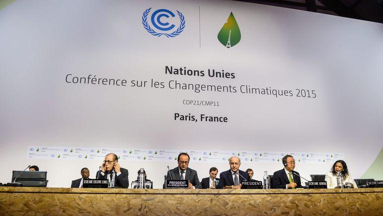 De plenaire zaal van COP21. Beeld epa