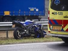 File in beide richtingen op A58 bij Breda door meerdere ongelukken
