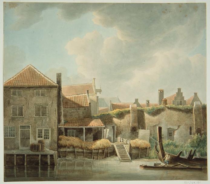 J. Rutten legde de stadsmuur al in de 19de eeuw vast.