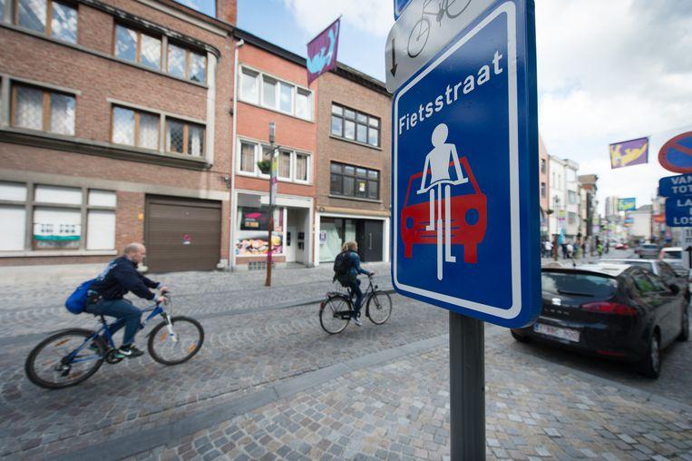 De politie hield de controle in zowel Bonheiden als Sint-Katelijne-Waver. Dit is een voorbeeld van een fietsstraat in Mechelen.