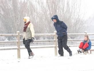 Sneeuw op zaterdag, dat is volop genieten!