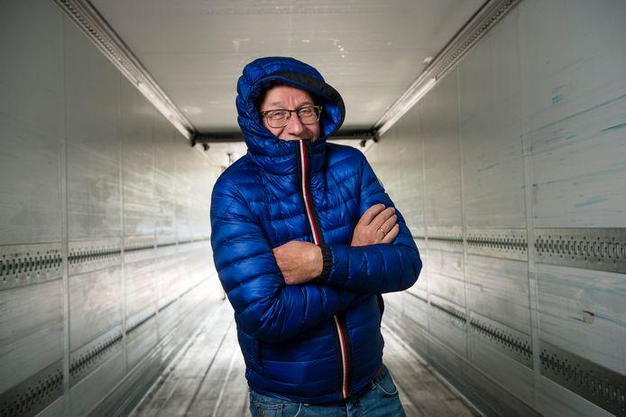 Bertus Dasselaar eigenaar van Dasko in koelwagen.