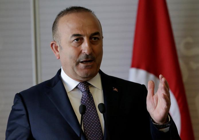 De Turkse minister Cavusoglu, februari 2017.