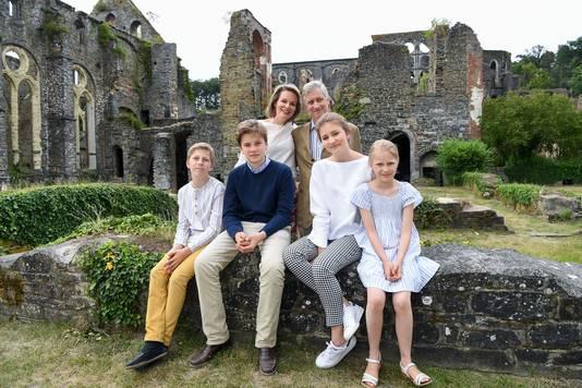 La famille royale à Villers-la-Ville, en juin 2018.