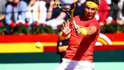 Nadal klopt Zverev en brengt Spanje langszij in Davis Cup-duel tegen Duitsland - Pouille helpt Frankrijk voorbij Italië naar halve finales