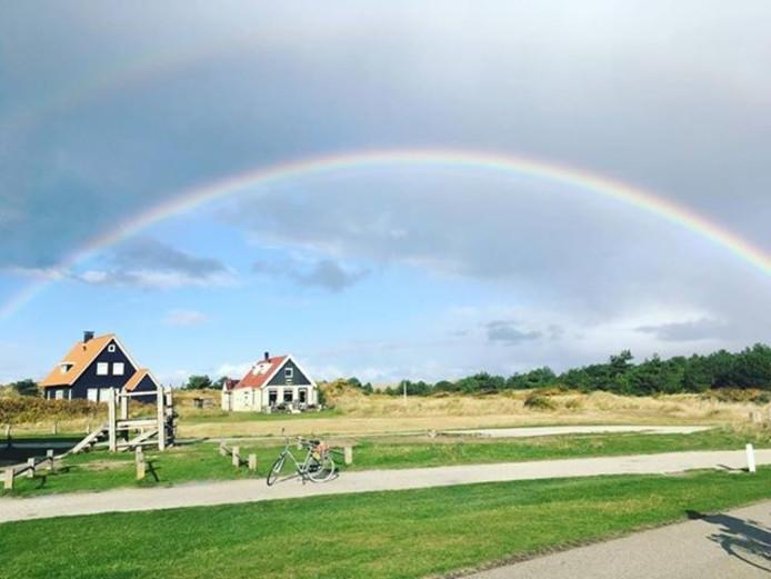 In Vlieland zag Ine Vantilt deze prachtige regenboog.