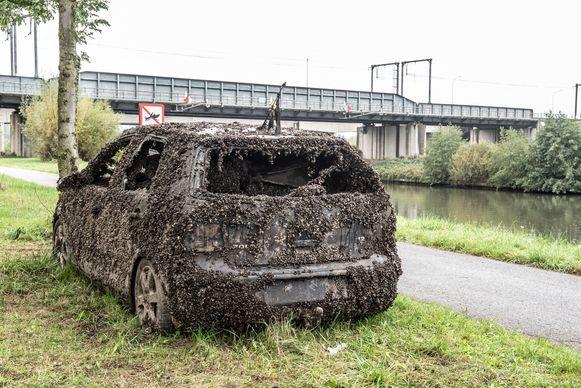 De auto lag twee jaar op de bodem van de Schelde.