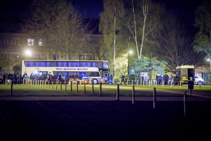 De bussen met Eritreeërs.