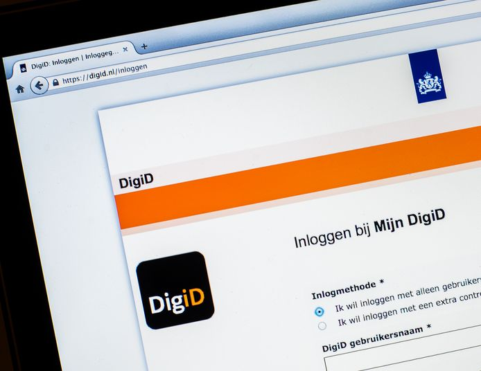 De website van DigiD.