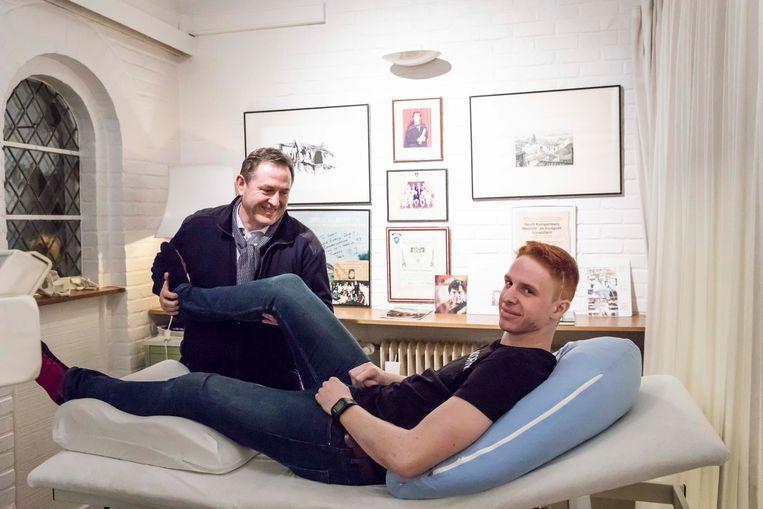 Kinesist Gerrit Kempeneers en Nolan Cordens.