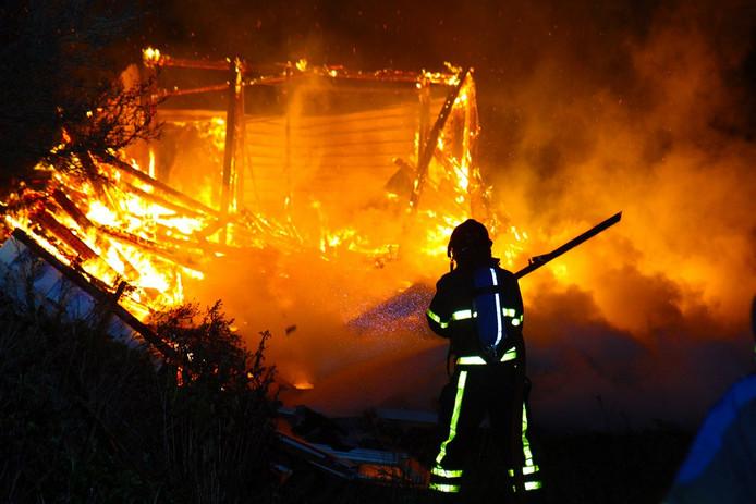 Sliedrechter Pieter G. veroorzaakte de brand in een schuur aan de Lekdijk.