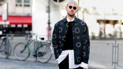 Draagbare trends voor heren gespot op straat tijdens de mannenmodeweken