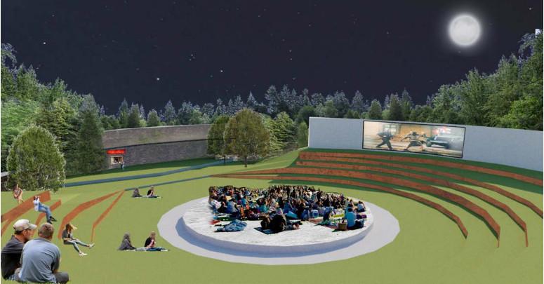 Een van de ideeën die Wageningse studenten bedachten voor de plek: een openluchttheater als tegenhanger van de Muur van Mussert.