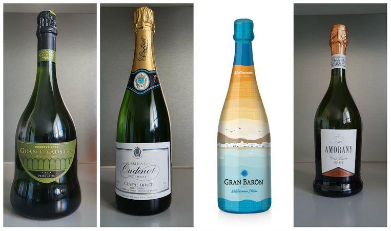 7. Gran Claustro Perelada Reserva | 8. Oudinot Champagne Brut | 9. Gran Barón Cava Brut Mediterranean Edition | 10. Cava Amorany Gran Cuvée Brut