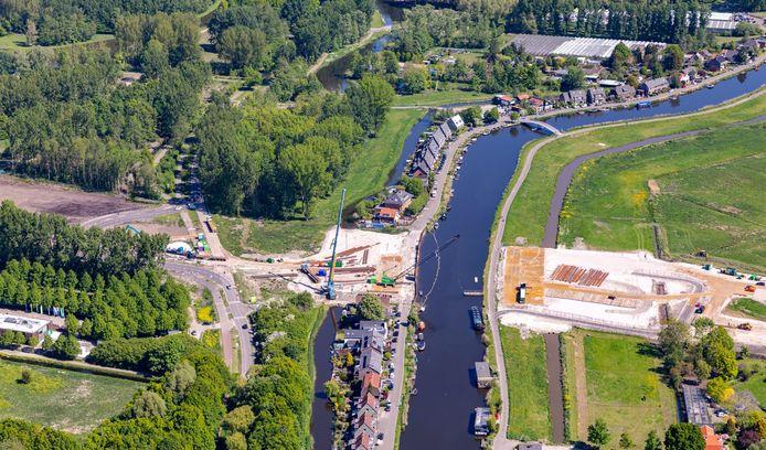 De nieuwe A16 Rotterdam gaat straks bij Ommoord en Bergschenhoek onder de Rotte door.