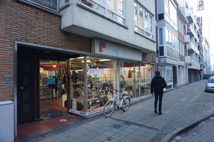 Rudy's Music Shop in de Kerkstraat in Oostende.