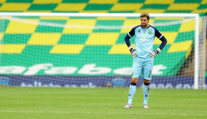 Tim Krul na de nederlaag tegen Watford, die de vijfde verliespartij op rij in de Premier League betekende.