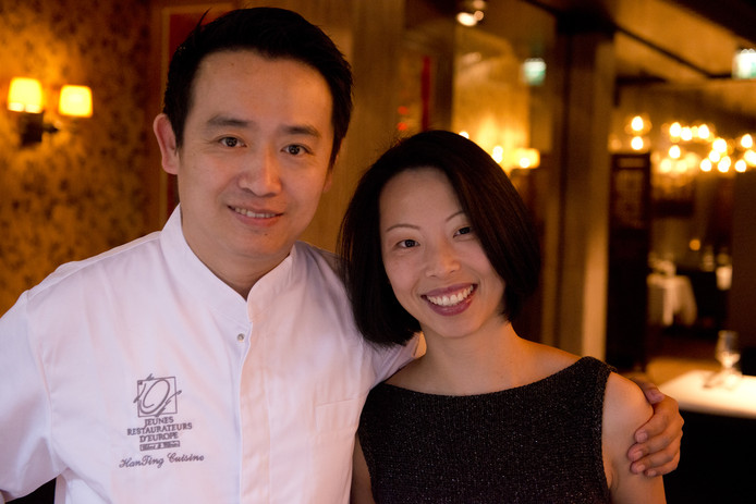 Han Ting Han Ji en zijn vrouw Ting van restaurant HanTing.